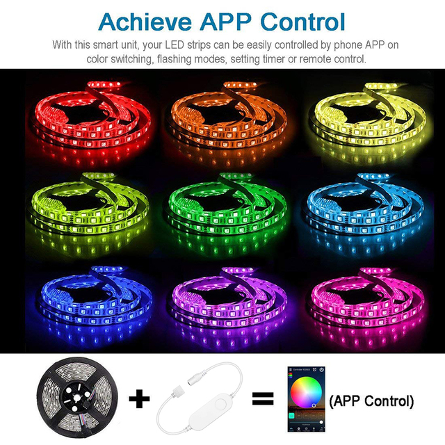 WiFi RGB LED Light Strip Smart Controller timer Control Wireless Voice Control Compatible with Alexa Google IFTTT APP Smart life 2