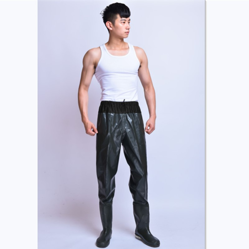 Outdoor Waterproof Fishing Waders Anti wear Pants Non slip Rubber Boots Wading Hunting Elastic Waist Clothing