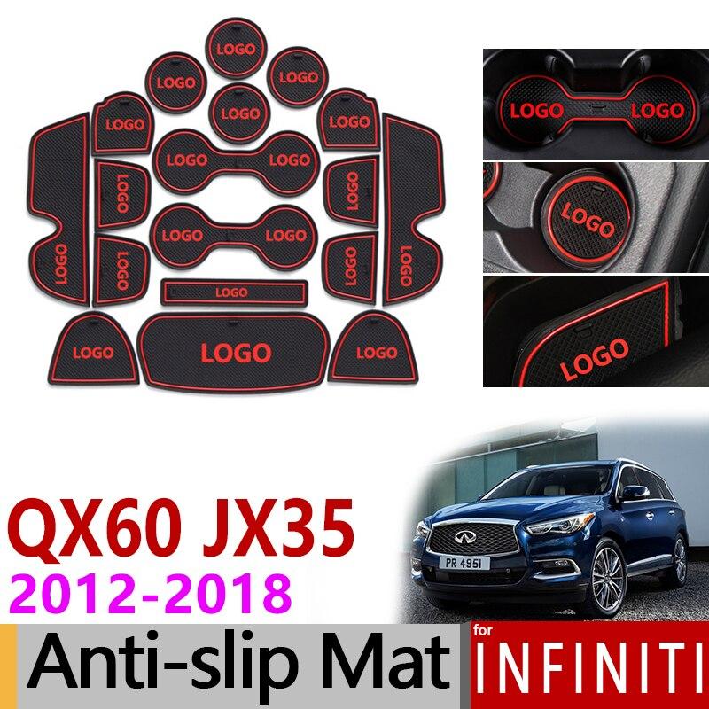 2012 Infiniti Qx60: Anti Slip Rubber Mats Gate Slot Mat For Infiniti QX60 JX35