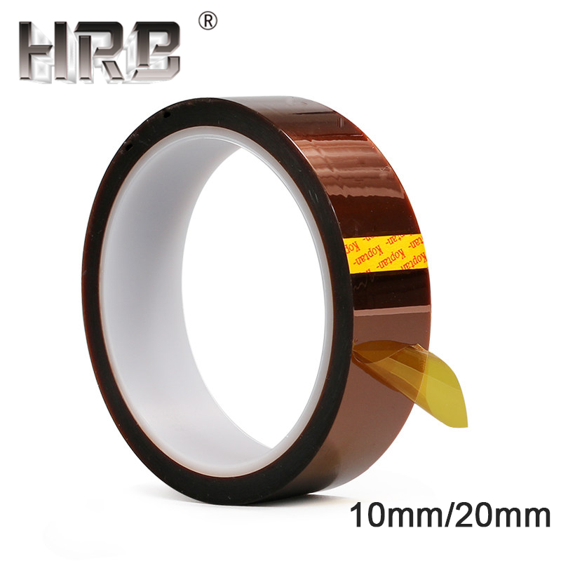10mm 20mm High Temperature Adhesive Tape Heat Resistant Polyimide Film Heated Insulation RC Lipo Battery Motor Electronic Parts