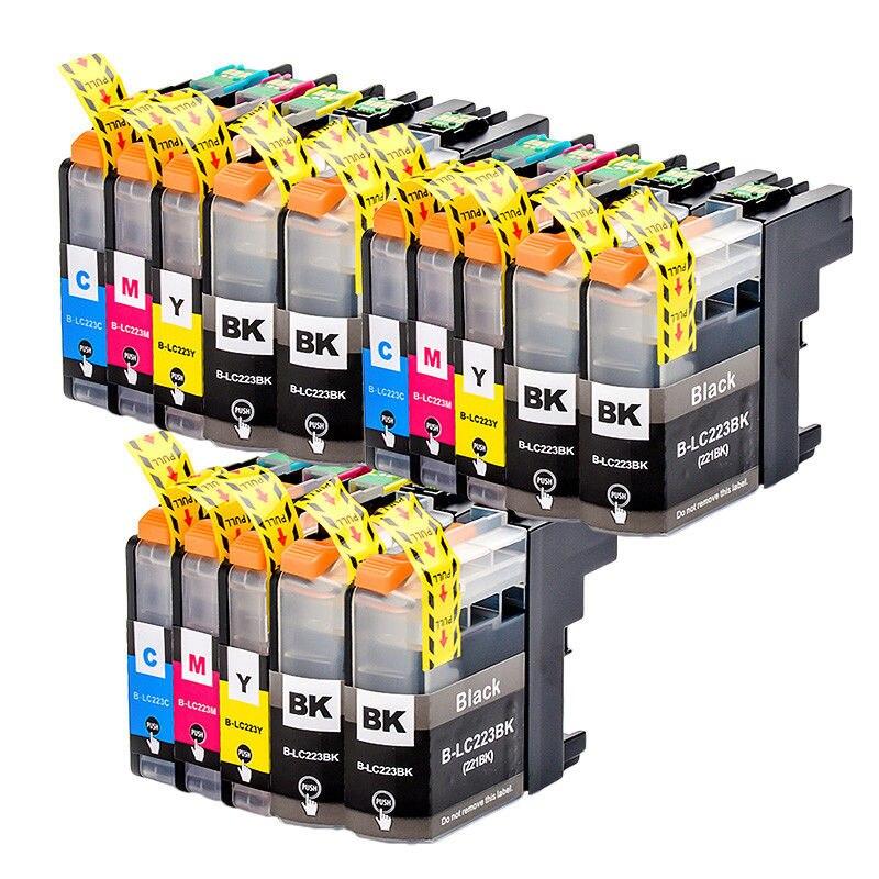15X LC223 BK/C/M/Y Full Ink Cartridge Compatible For Brtoher DCP-J562DW/J4120DW/MFC-J480DW/J680DW/J880DW/J4620DW/J5720DW/J5320DW