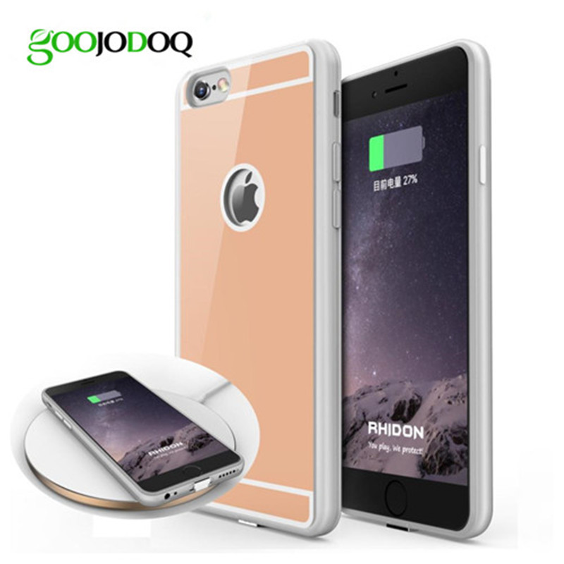 Qi Wireless Charger Receiver Case for iPhone 6 6s 6 6s plus 5 5s SE Phone Cover with Adapter Used on Wireless Charging Pad T0910