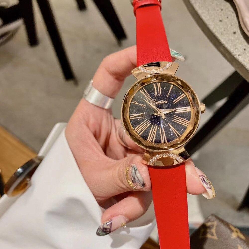 Populaire nouvelle mode Multi facettes verre femmes cristaux montres rétro romain numéro été robe montre étanche montre-bracelet Quartz