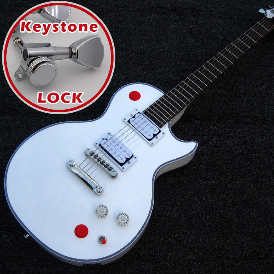 buckethead 24 frets keystone locking tuners killswitch white hh scale nashville bridge. Black Bedroom Furniture Sets. Home Design Ideas