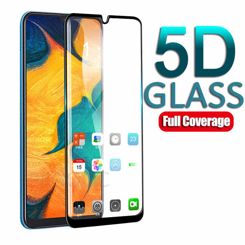 5D Full Glue Cover Tempered Glass For Samsung Galaxy A30 A40 A50 A60 A70 A80 A90 A10 A20 M10 M20 M30 Screen Protector Glass Film