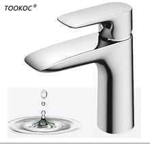 купить TOOKOC Basin Sink Faucets  Tap bathroom fixture brass Mixer Single Handle Single Handle Cold and Hot Mixer Lavatory Faucet дешево