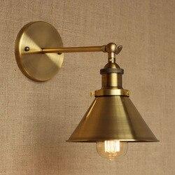 Nowoczesny LOFT brąz metal kraju dostosować kinkiet do baru łazienka badania sypialnia jadalnia próżność foyer światła E27 110- 220 V