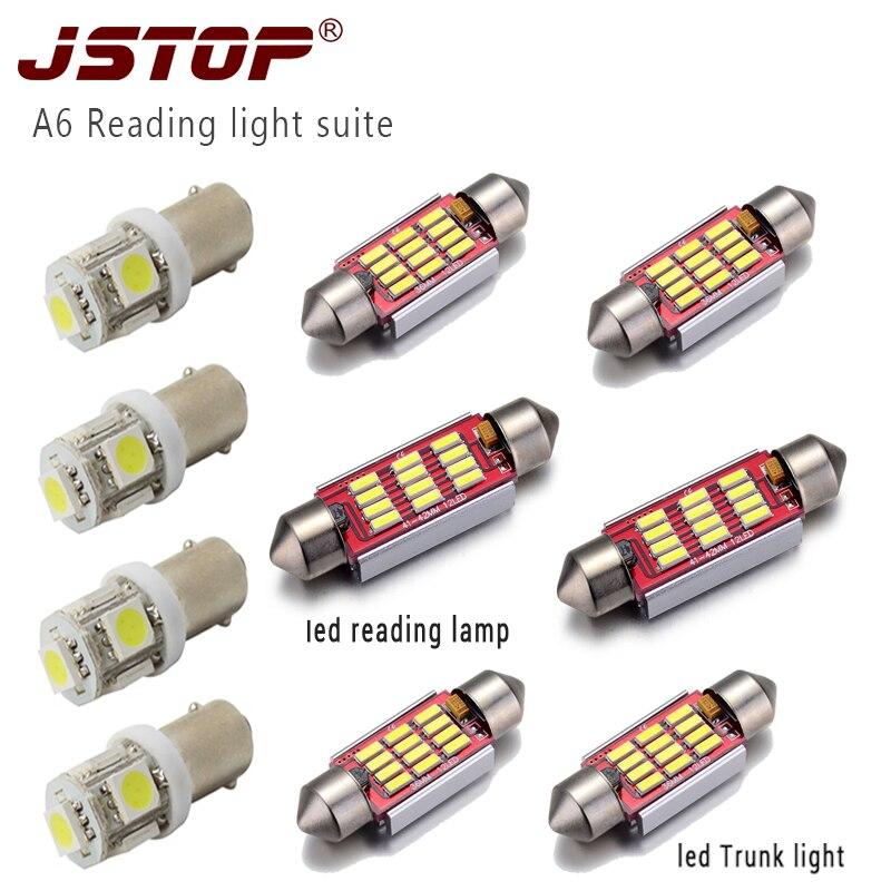 JSTOP 10piece / set A6 yüksək keyfiyyətli rəhbərlikli avtomobil - Avtomobil işıqları - Fotoqrafiya 1