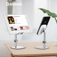 Baseus Mobile Phone Stand Holder for iPhone XS iPad Air Smartphone Metal Desk Desktop Phone Mount Holder for Xiaomi Tablet Stand Mobile Phone Holders & Stands