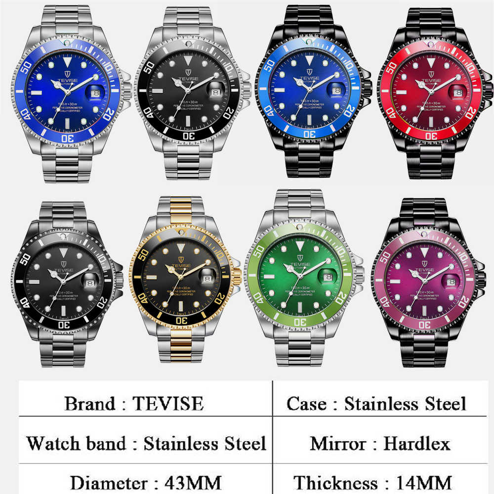 55c04581e57 ... Top Luxury TEVISE Relogio Automatico Masculino Men Mechanical Watches  Fashion Waterproof Business Submariner watch Male Clock ...