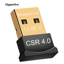 Oppselve Bluetooth Adapter V4.0 CSR Dual Mode Wireless Mini USB Bluetooth Dongle Music Sound Transmitter For Computer PC Laptop все цены