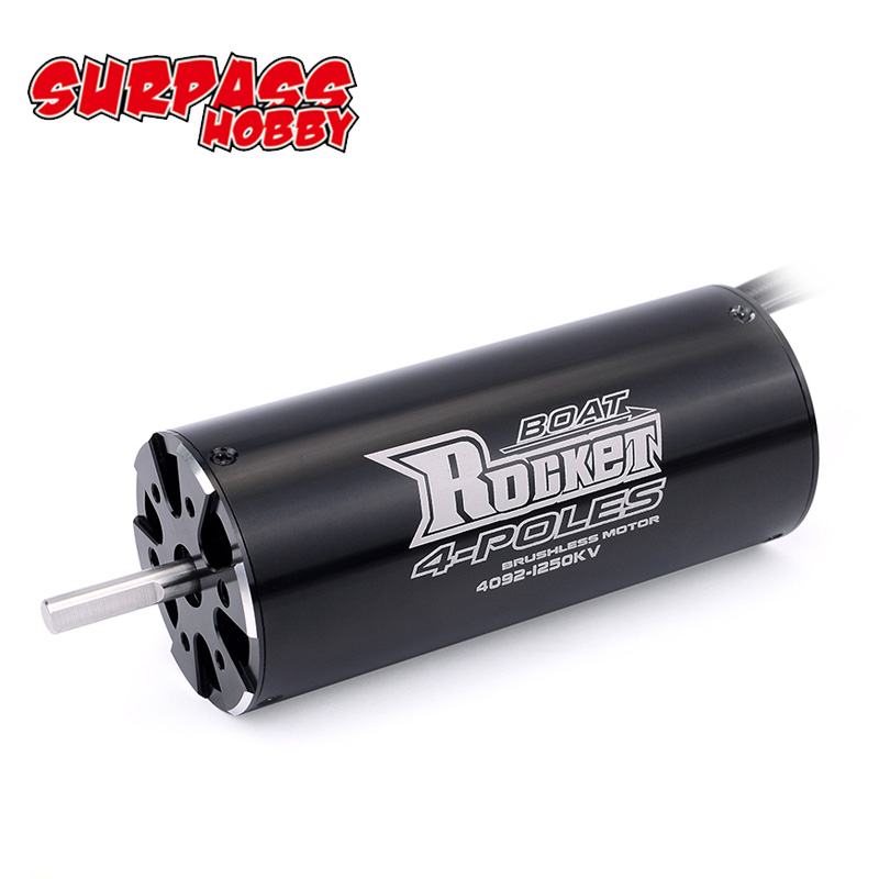 SURPASSHOBBY Rocket 4092 1520KV 1250KV 4P Brushless Motor for Traxxas M41 Catamaran Spartan 1000mm(or Above) RC Boat Car-in Parts & Accessories from Toys & Hobbies