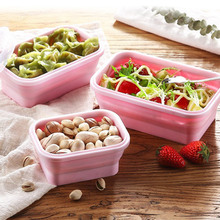 3PCS/Set Silicone Lunch Bento Box Convenient Refrigerator Storage Fruit Collapsible Bowl For Outdoor Camping Food Container