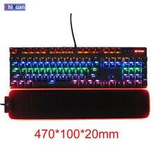 470*100 Gaming RGB keyboard Pad 8 Colors LED Lighting USB 1.4M Cable Keyboard Hand Wrist Mat Locked Edge Waterproof Anti-Slip logitech g213 prodigy gaming keyboard with 16 8 million lighting colors