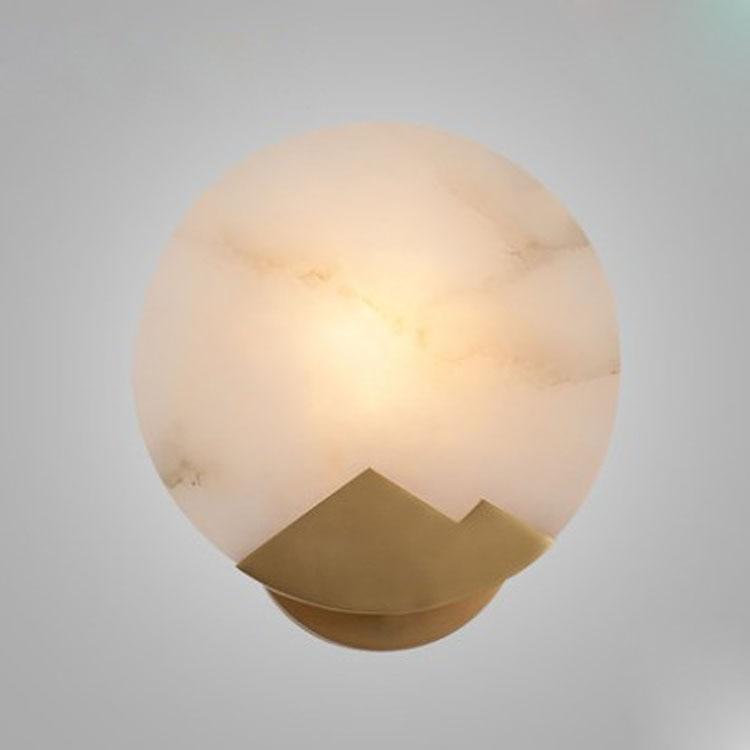 Post moderne ronde marmeren gouden slaapkamer muur decoratie creatieve bedlampje Amerikaanse minimalistische gang kleine wandlamp-in Hanglampen van Licht & verlichting op Shop4405058 Store