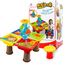 Beach Toys 23Pcs Kids Plastic Sand Pit Set Beach Sand Table Water Play Toy 9829/9828 Beach Toys For Kids- Color Random(China)