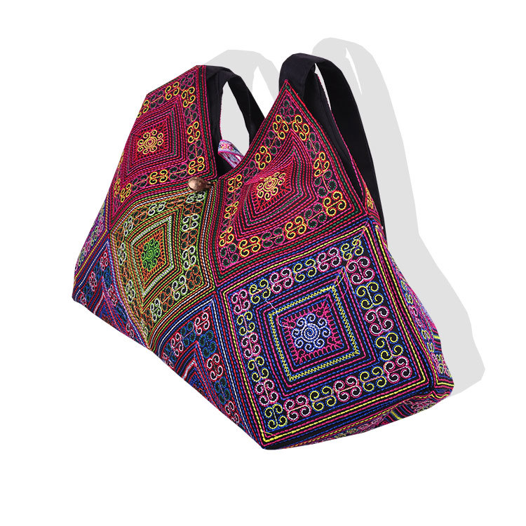 New National Trend Embroidery Rice dumplings Shoulder Bag Tote Handmade Embroidered Ethnic Characteristics Women's  Handbags national trend women handmade faced flower embroidered canvas embroidery ethnic bags handbag wml99