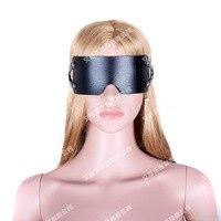 PU Leather Eye Mask Eye Blindfold Blinder Sex Toys For Couples Slave  Adult Games Bed Bondage Restraints Sex Products for Woman