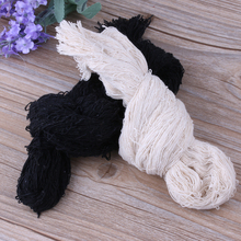 1 PC Gauze Polyester Yarn Roll Black And White Halloween Decor