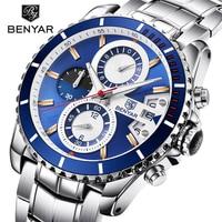 BENYAR High Quality Chronograph Men S Watch Date Waterproof Sport Mens Quartz Wristwatch Luxury Gift Reloj