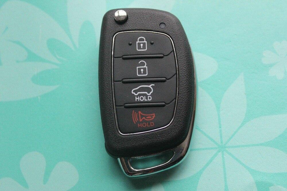 2 unids/lote 4 Botones Remoto Ajuste Shell Dominante Para Hyundai SANTA FE ix35
