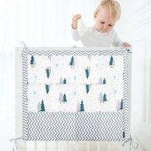 Муслиновая кровать подвесная сумка для хранения детская кроватка кровать Брендовая детская хлопковая кроватка Органайзер 50*60 см игрушка подгузник карман для кроватки постельный комплект