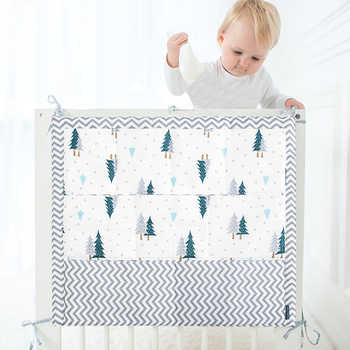 Muslin Tree Bed Hanging Storage Bag Baby Cot Bed Brand Baby Cotton Crib Organizer 50*60cm Toy Diaper Pocket for Crib Bedding Set - DISCOUNT ITEM  14% OFF All Category