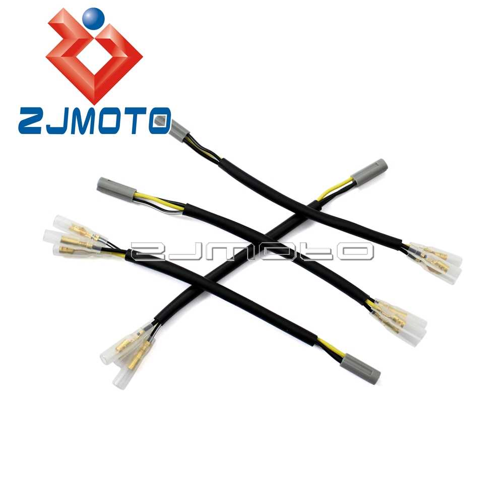 4 X Motorcycle Oem Turn Signal Wiring Adapter Plug Harness Manual Guide