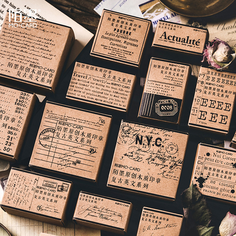 Retro Unfinished Poems vintage distant soliloquy seal stamp wood and rubber seal log rubber stamp decorative planner dairy bookRetro Unfinished Poems vintage distant soliloquy seal stamp wood and rubber seal log rubber stamp decorative planner dairy book
