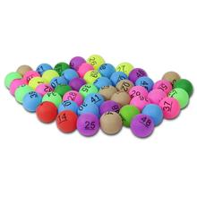 50pcs/pack 40mm 2.4g Colorful Entertainment Ping Pong Balls with Numbers Table Tennis Ball for Lottery Game Advertisement