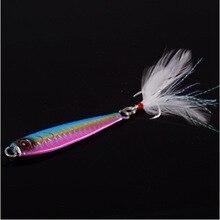 UCOK 1pcs/pack 26g fishing jig beach or boat long shot casting feather tied triple hook  jig hook bait mackerel culter jewfish