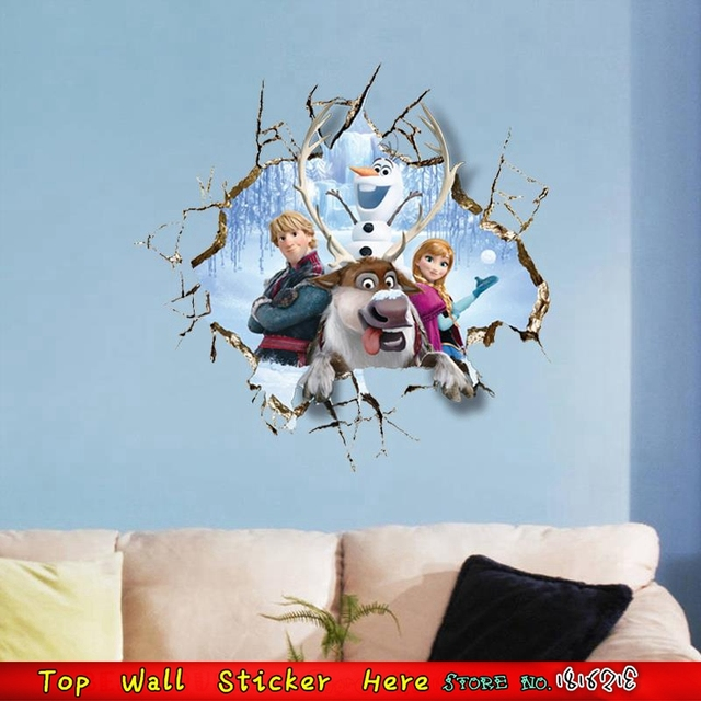 froze anna elsa princess movie poster 3d inspired wall stickers for