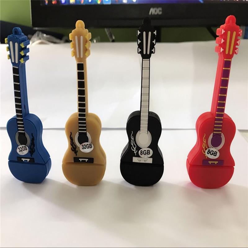 Colorful Guitar usb flash driveplastic model USB2.0 usb flash drives pen drive memory stick u disk Festival Thumb/Car Gift S331