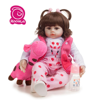 48cm Silicone Reborn Baby Dolls Bebe Realistic Lifelike Toddler Real Girl Doll lol Toys for Children Best Gift For Birthday