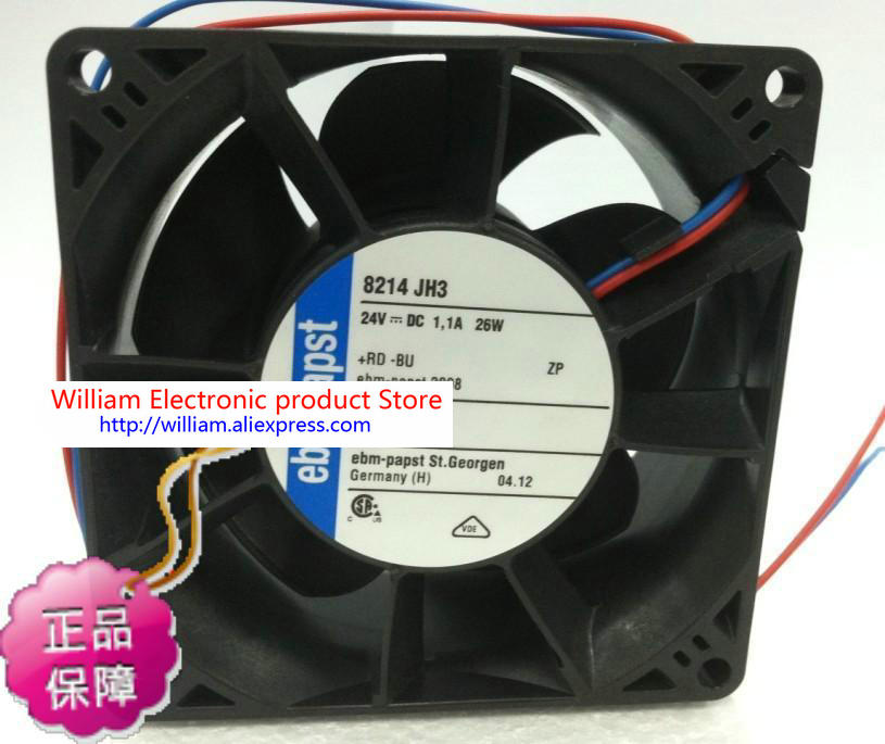 все цены на New original German ebmpapst 8214 JH3  8038 DC 24V 1.1A 26W 8cm Inverter drive cooling fan онлайн