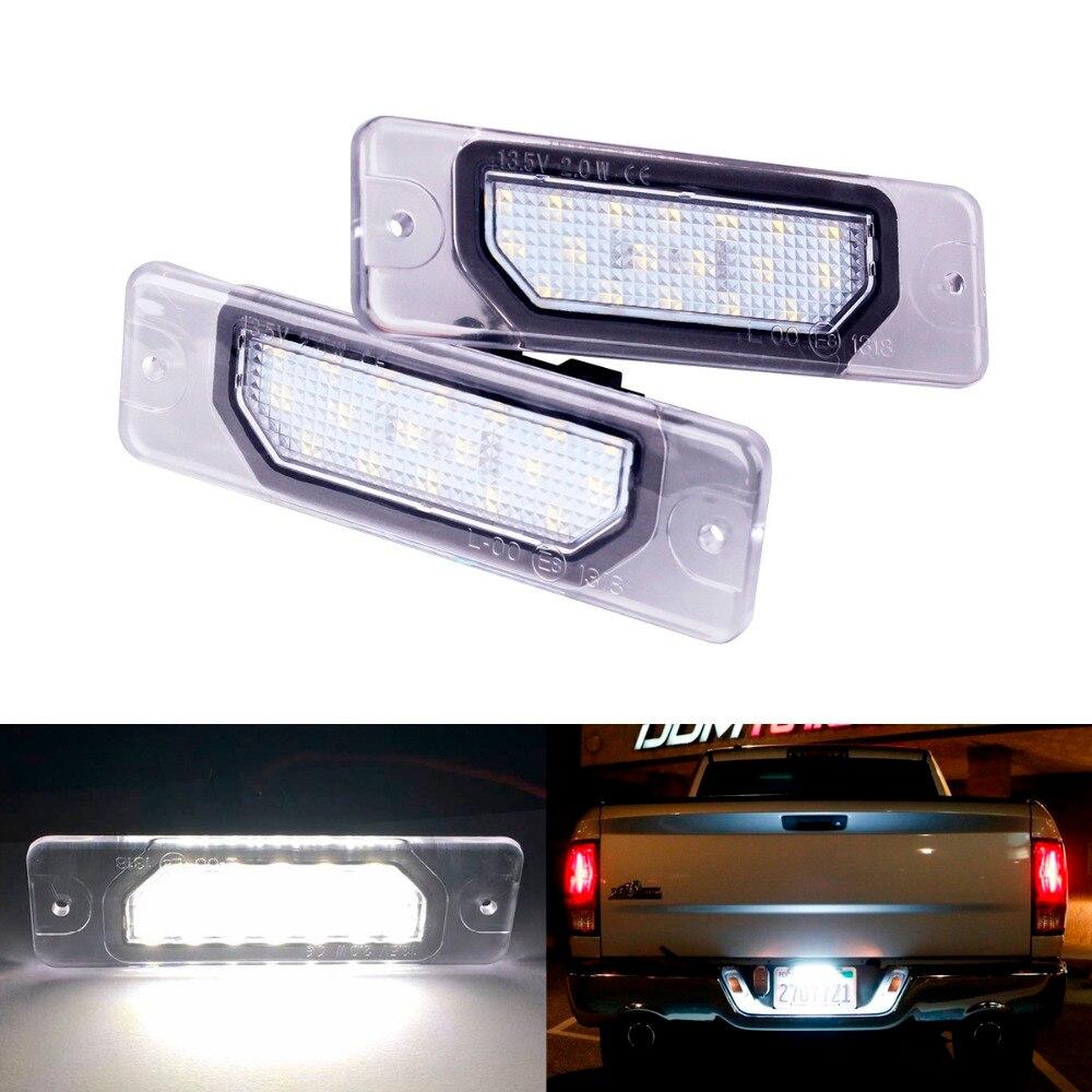 2Pcs  Car-Styling 18LED Number License Plate Light Lamp OEM Direct Fit For Infiniti Fx35 Fx45 Q45 I30 I35 Q70 Nissan Fuga Cefiro цена 2017