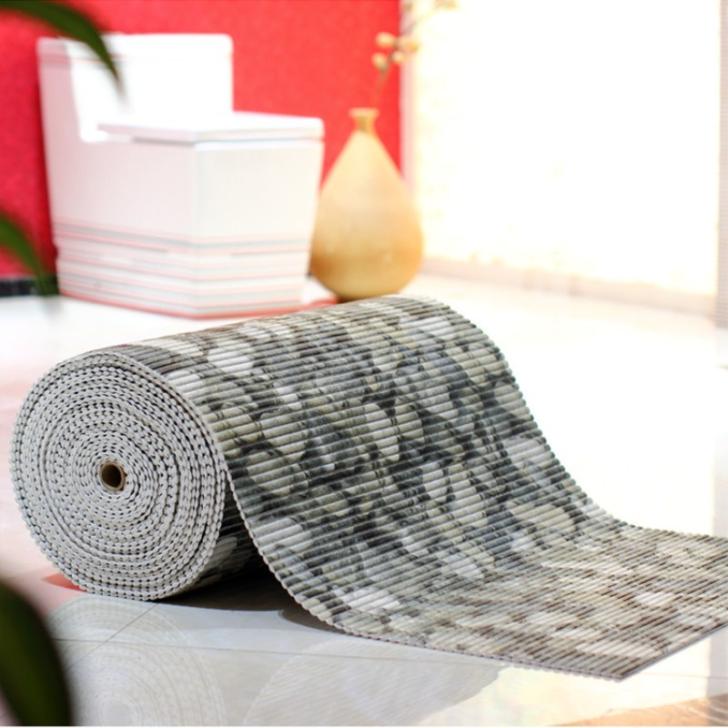 Cobblestone mat PVC mat bathroom rug DIY stitching thicken waterproof shower toilet