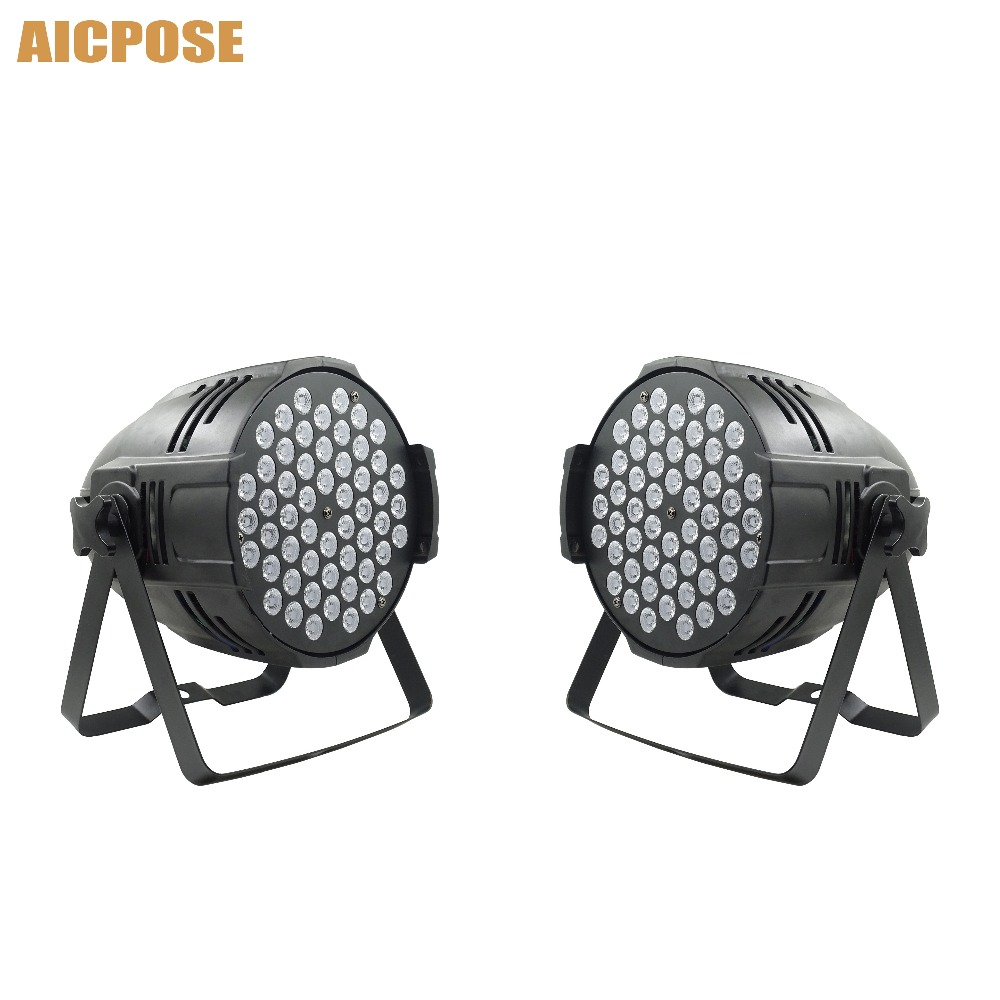2pcs/lots 54x9w Led Par Lights RGB 3in1 Disco Lights LED Stage Light Wall Washer Bar Party Show Stage Lights