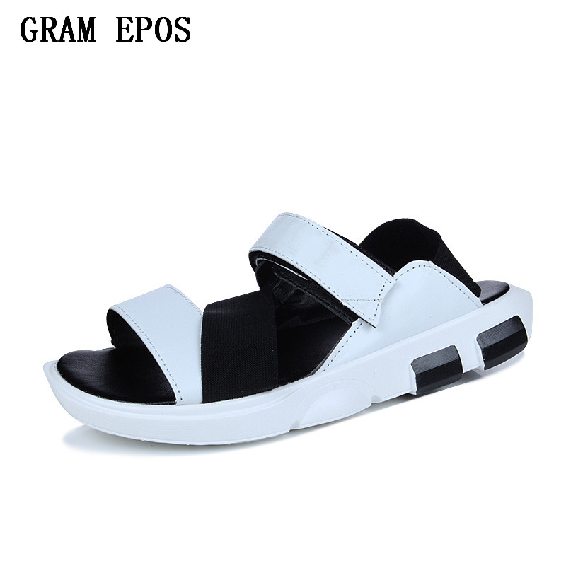 GRAM EPOS Mens Sandals PU Leather Summer 2018 New Beach Men Casual Shoes Outdoor Sandals