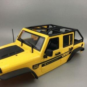 Image 3 - 1 Juego de armazón de carcasa dura Convertible Wrangler, carcasa de distancia de rueda de 313mm para coches de control remoto piezas de repuesto DIY