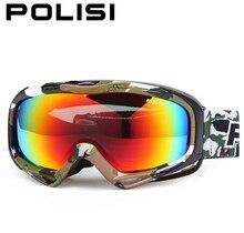 POLISI Unisex Outdoor Sports Ski Snow Glasses Polarized Skiing Snowboarding Goggles Snowmobile Gafas Motocross Off Road