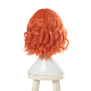 Image 3 - L email wig New Women Wigs 30cm/11.81inch Short Curly Orange Heat Resistant Synthetic Hair Perucas Cosplay Wig