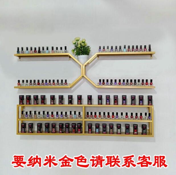 Nail salon nail polish glue display rack iron hanging wall shelving cosmetic store hanging wall storage rack - 2
