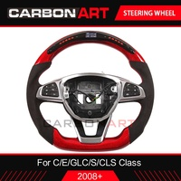 C class W205 car styling smart racing steering wheel for C E S CLS class W213 W218 W222 LED carbon fiber interior for GLC X253