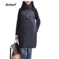 new fashion Padded cotton plus size women casual loose autumn spring winter dress vestidos femininos party 2017 dresses