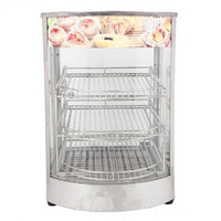 Commercial 3 Layers Glass Food Warmer For Catering With Hot Food Display Showcase Food Warmer Display