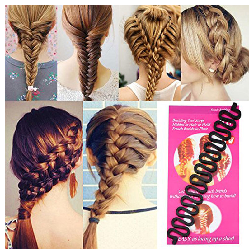 Women Lady Hair Styling Clip Stick Bun Maker Braid Makeup Tool Hair Accessories