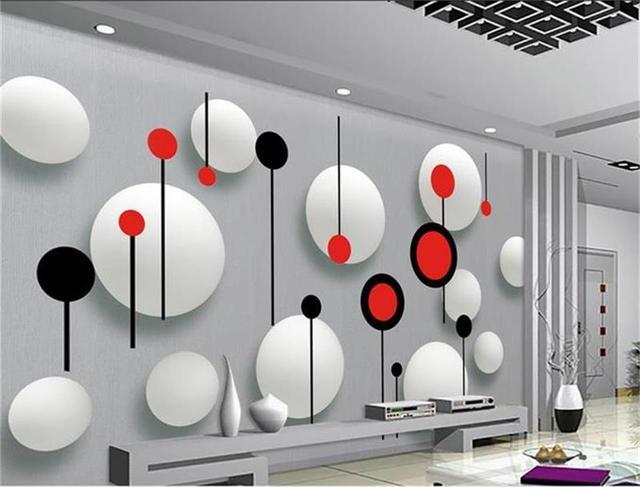 3d tapete foto tapete nach wandbild wohnzimmer 3d rot schwarz weiß ...