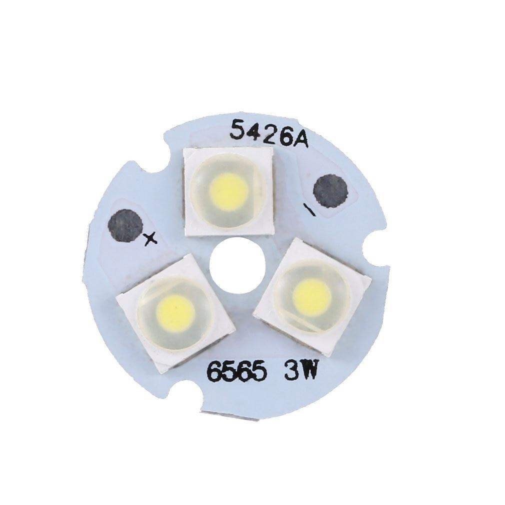 3W Pure White 3 LED SMD 6565 LED Light Downlight Aluminum Base Plate LED Chip Module Aluminum Board