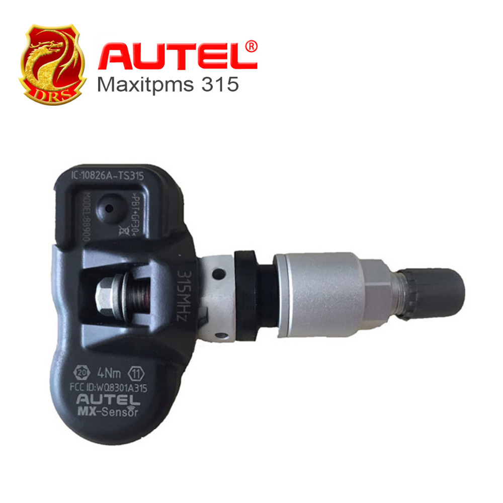 4pcs/lot Original Autel Tire Programming TPMS 315HZ Sensor Supports Tire Programming Use With Autel TPMSPAD Car Diagnostic Tools